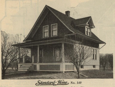 GVT Standard Home No. 140 from the 1916 catalog