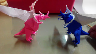 How to make #origami #dinosaurs t rex | Origami, Origami easy ... | 180x320