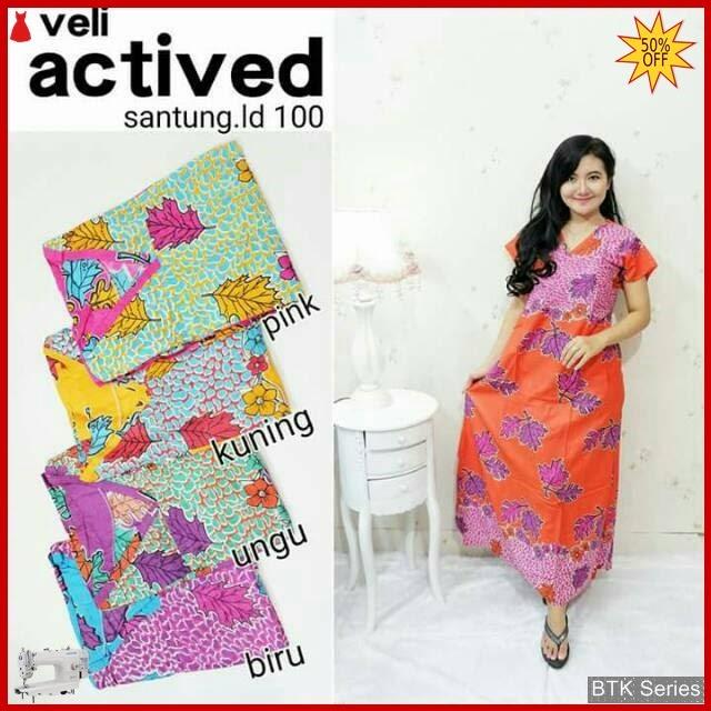 BTK063 Baju Velly Daun Modis Murah BMGShop