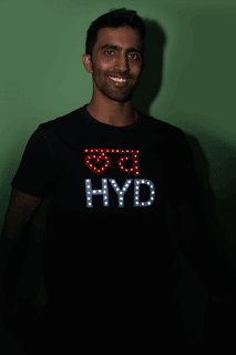 Love Hyderabad Led T shirt For Men