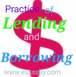 My Lost Dollar Express Your Opinion on the Practice of Lending and Borrowing money