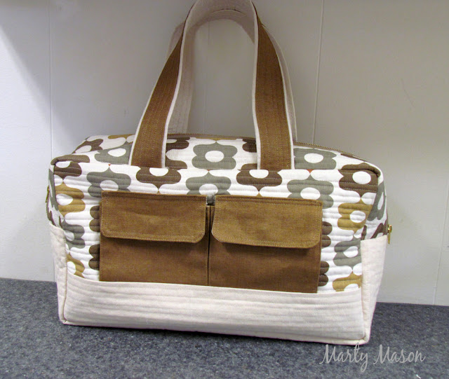 Noodleheads' pattern....cargo duffle bag made by marty