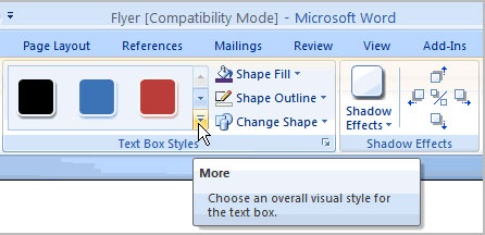 Image for Change Text Box Style in Word All Version