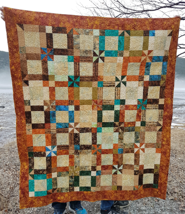Northern Woods quilt | DevotedQuilter.blogspot.com