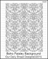 Our Daily Bread designs Boho Paisley Background