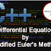 C++ Program to Solve a Differential Equation by Modified Euler's Method