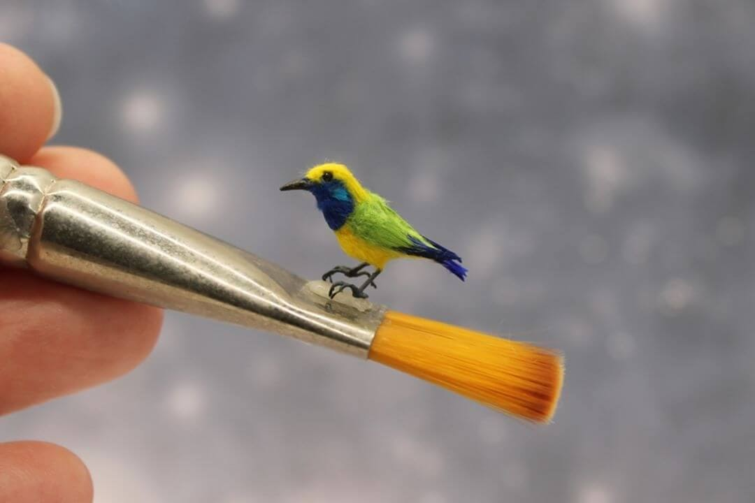 13-Orange-Billed-Leaf-Bird-Katie-Doka-Hand-Sculpted-Dollhouse-Miniature-Animals-www-designstack-co