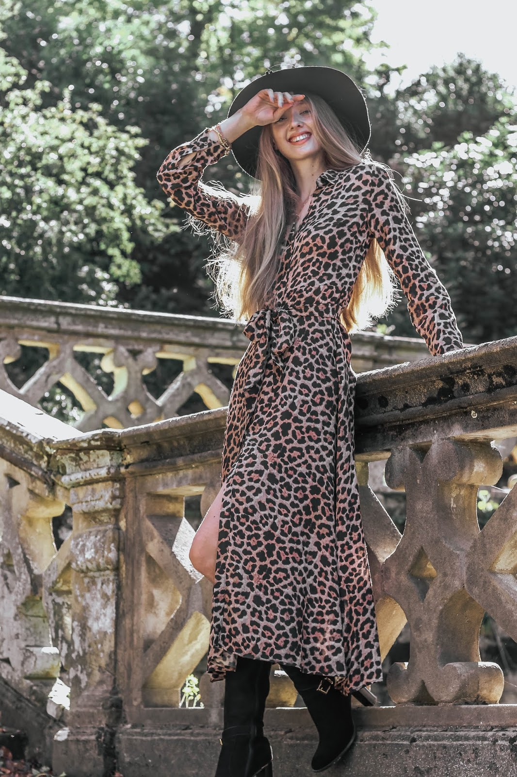 Zara Leopard Print Maxi Dress Autumn/Winter