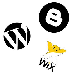 Quero criar um Blog Hospedagem e Plataforma icones
