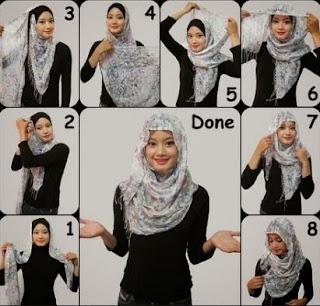 cara memakai hijab segitiga sederhana