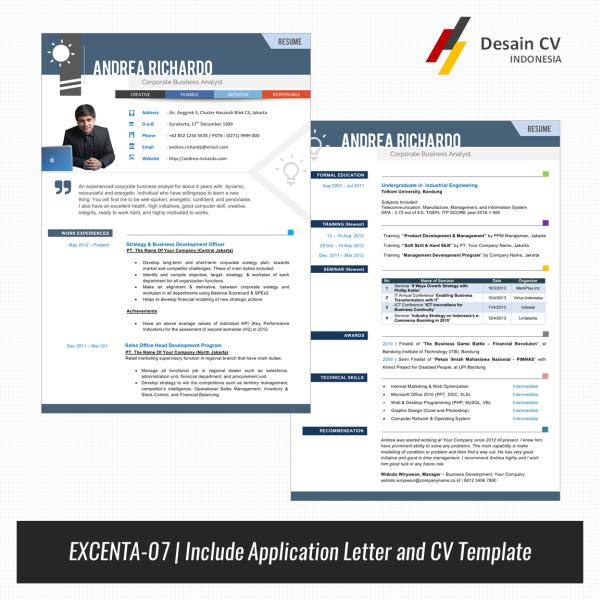 Desain CV Kreatif: CV Europass Menarik