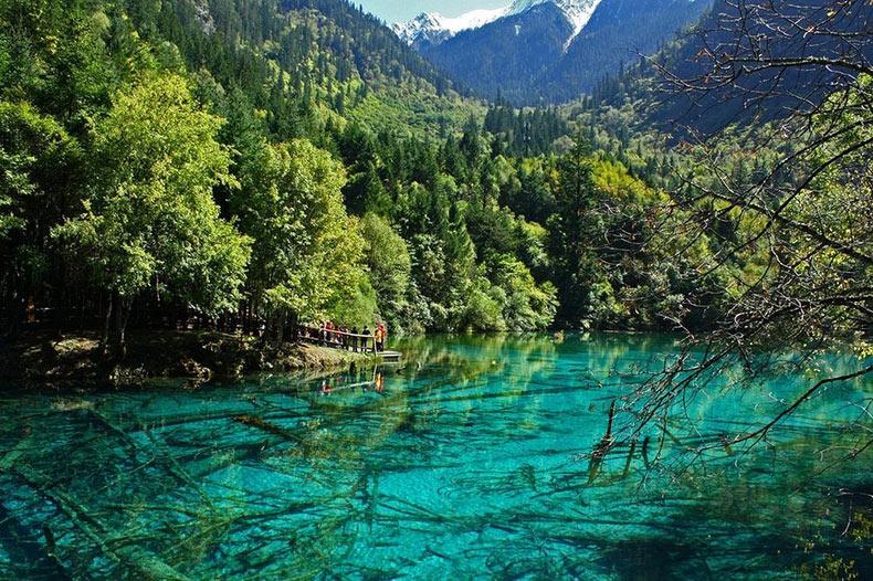 Los lagos alpinos y cascadas de Jiuzhaigou   China