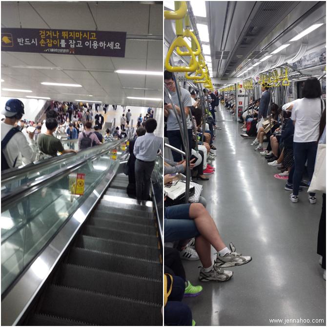 jennahoo.com - Saapuminen Koreaan - Soulin metrosysteemi