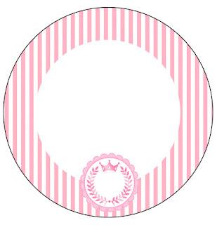 Toppers o Etiquetas de Corona Rosada para imprimir gratis.