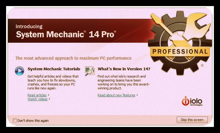 Iolo System Mechanic 14 Professional Crack 2015 Download