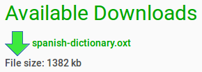 Available Downloads spanish-dictionary