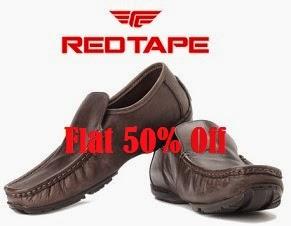 Flat 50% Off on Red Tape Men's Casual & Formal Footwear @ Flipkart