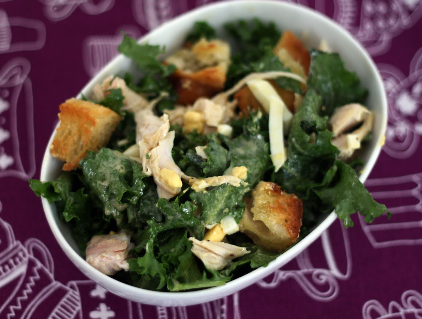 Escarole Salad With Turkey Garlic Rubbed Croutons Coconut Lime