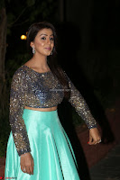 Nikki Galrani in Green Skirt  Top at Marakathamani music launch ~  Exclusive (43).JPG