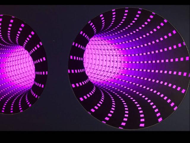 Tấm xuyên sáng 3D hiệu ứng màu tím
