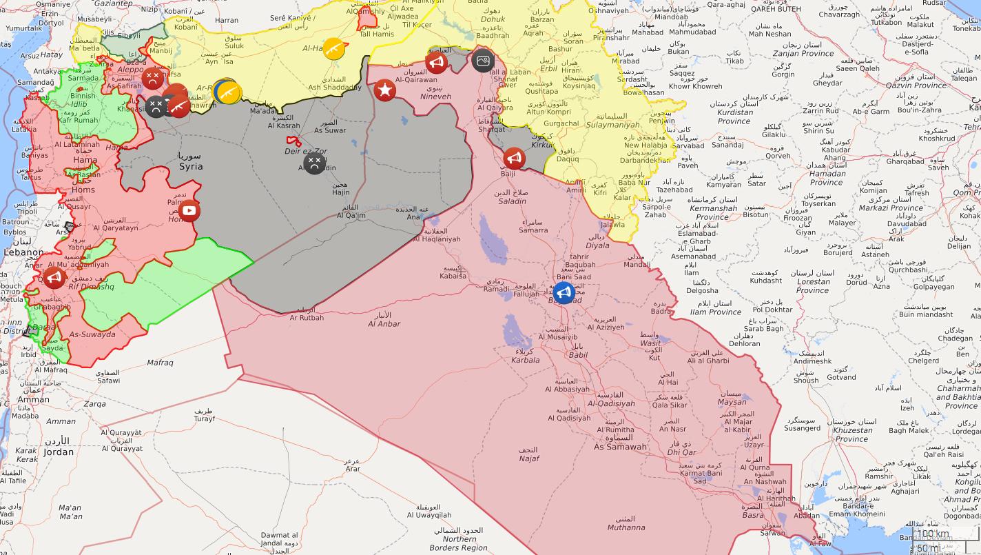 Syrian and Iraqi forces reach the Syrian Iraqi Border, near al Tanf ...