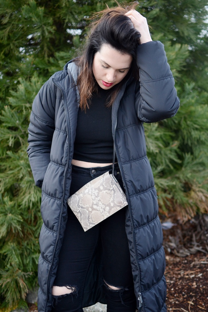 Bench Canada Wrap puffer jacket Vancouver fashion blogger cool winter outfit idea