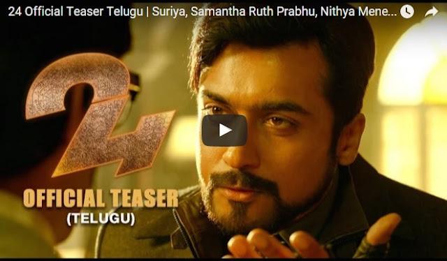 24 Official Teaser Telugu   Suriya, Samantha, Nithya Menen   AR.Rahman   Vikram