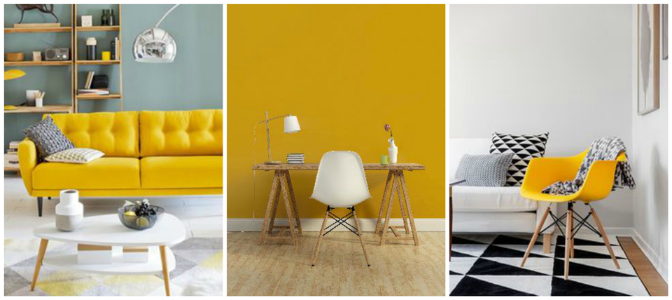 Deco: Jaune moutarde