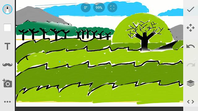 Cara mengambar pemandangan Gunung dengan pohon.