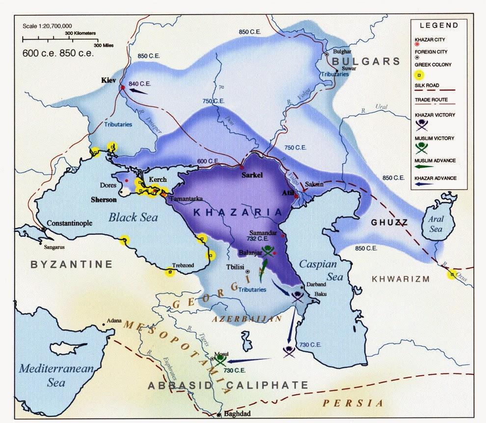 Хазарский каганат в 7-11 веках