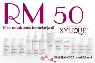 RM50 khas untuk anda berbelanja di Xylique !