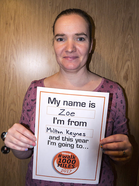 Zoe's #Walk1000miles pledge