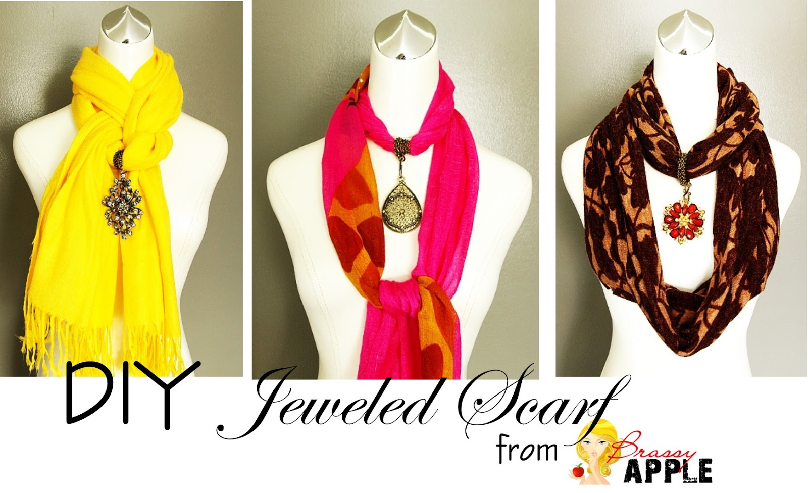 DIY jeweled scarf  Styled by Tori