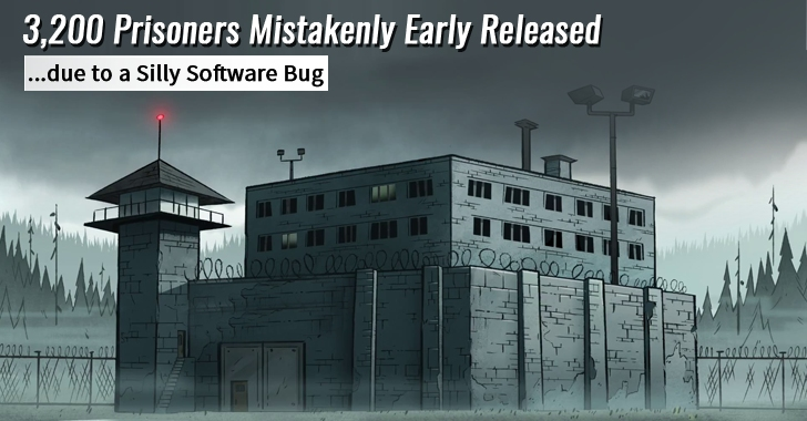 Jailer Mistakenly Early Release 3,200 Prisoners due to a Silly Software Bug