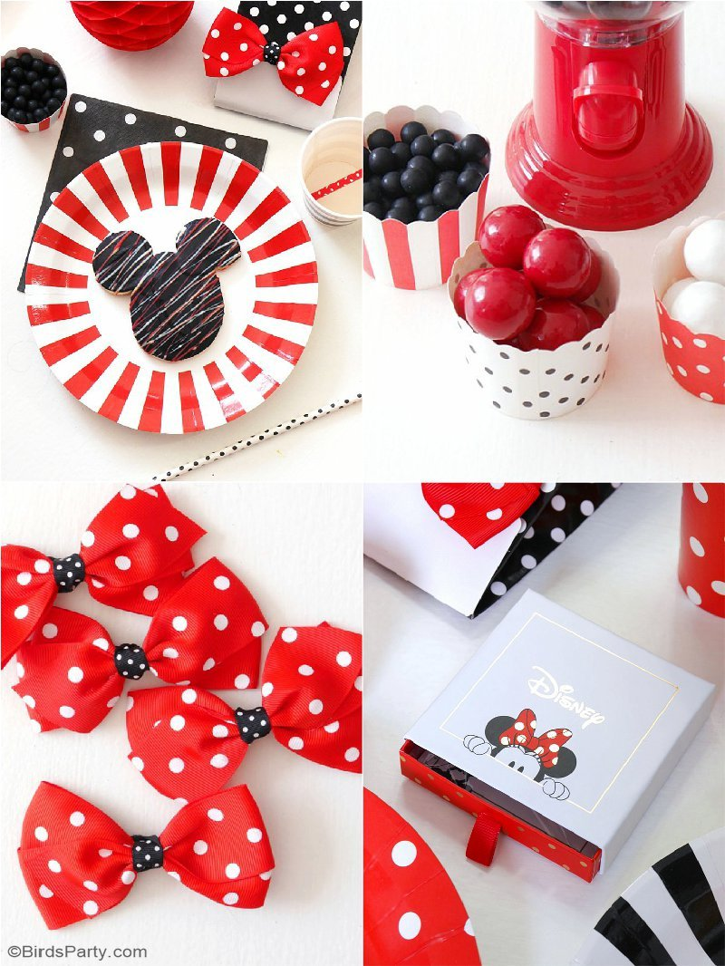 id es diy pour anniversaire mickey minnie f tes party printables. Black Bedroom Furniture Sets. Home Design Ideas