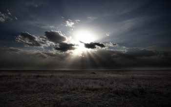 Wallpaper: Sun, clouds and landscape in Serengeti