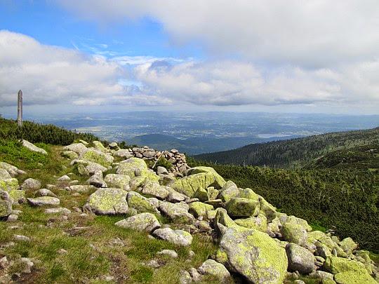 Widok ze stoków Śmielca.