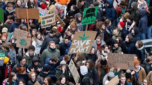 Masiva marcha en Bélgica contra el cambio climático