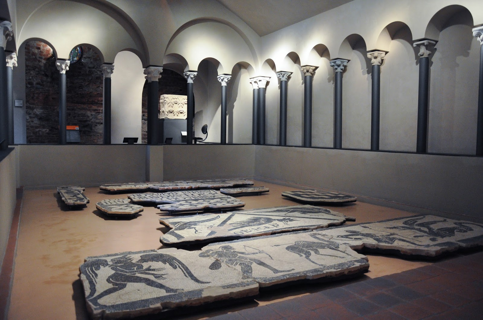 Roman mosaics, Antique Art Museum, Palazzo Madama, Turin, Italy