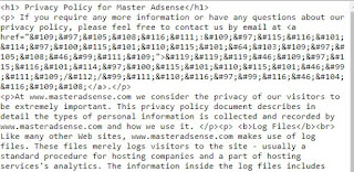 Privacy Policy Blog Agar Diterima Adsense