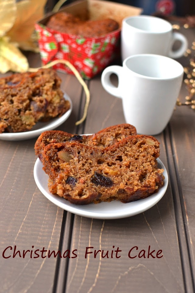 Eggless Christmas Plum Cake (Vegan recipe)