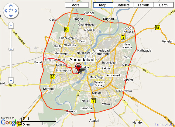 Ahmedabad Bicycling Club: Routes(Google Maps View)