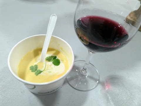 Beer and Cheddar Bisque paired with Vineland Estates Cabernet Franc
