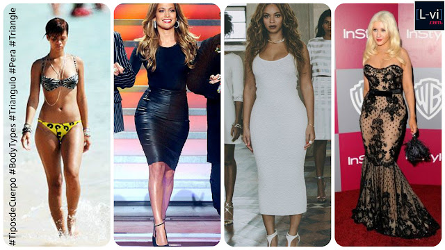 Celebridades con cuerpo de Triángulo o Pera / Celebrities with Triangle or Pear  body shape  L-vi.com
