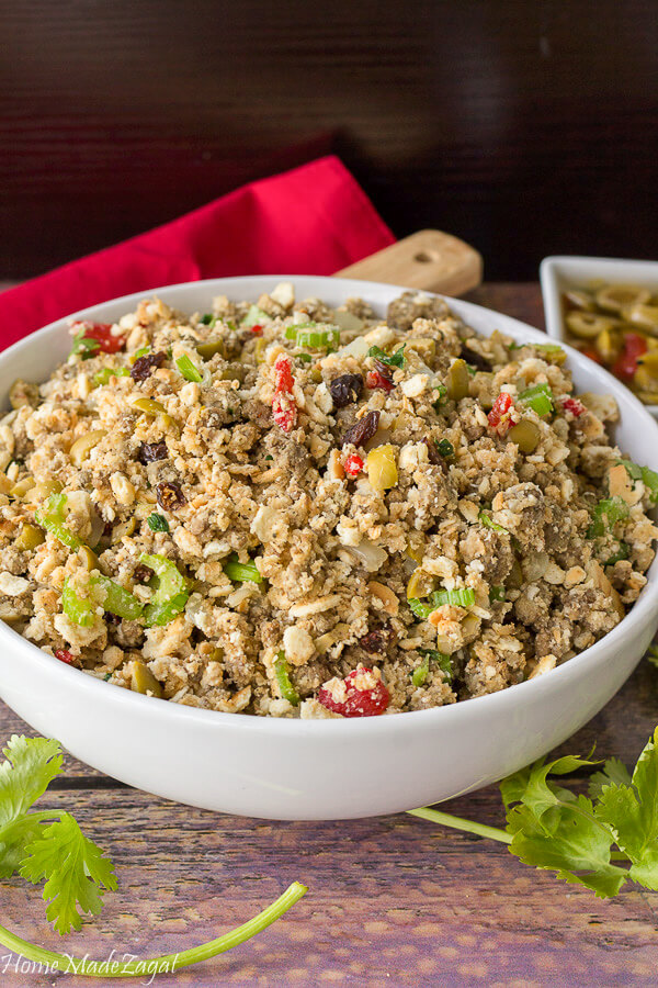 Easy Caribbean inspired stove top stuffing