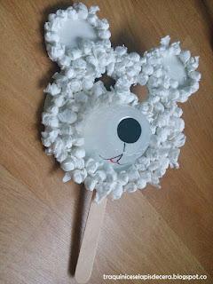Máscara de urso polar