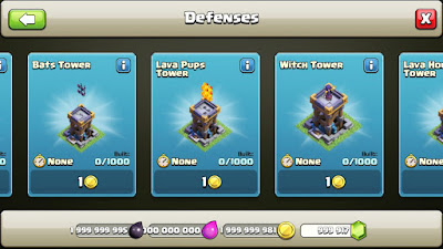 Customized buildings in Clash of clans Private server