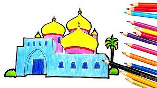 Gambar Kartun Masjid Cantik dan Lucu 201716