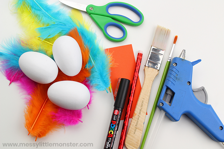 Painted Wooden Eggs Craft for Kids
