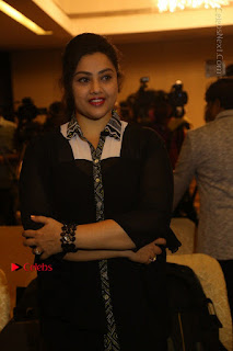 Tamil Actress Meena Latest Stills in Black Dress at TSR TV9 Awards Press Meet  0056.JPG
